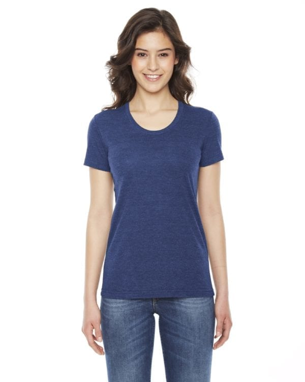 american apparel tr301w custom ladies triblend track tshirt bulk custom shirts tri indigo