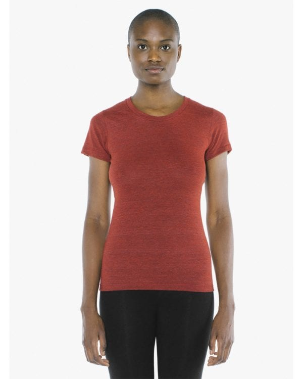 american apparel tr301w custom ladies triblend track tshirt bulk custom shirts tri red