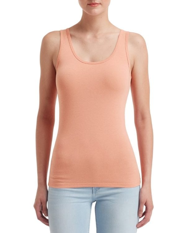 anvil 2420l custom ladies tank top bulk custom shirts dusty rose