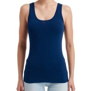 anvil 2420l custom ladies tank top bulk custom shirts navy