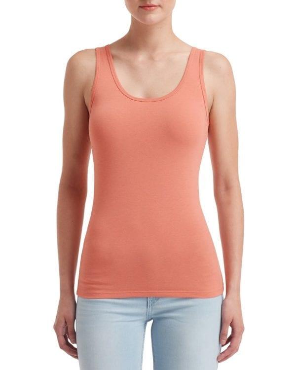 anvil 2420l custom ladies tank top bulk custom shirts terracotta