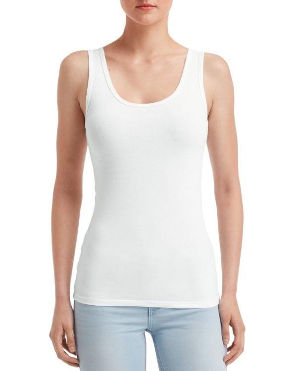 anvil 2420l custom ladies tank top bulk custom shirts white