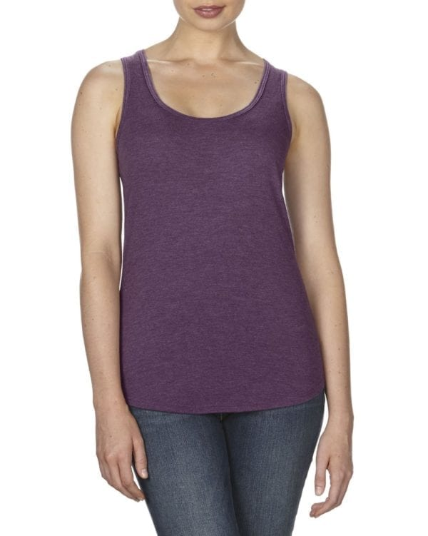 anvil 6751L triblend custom tank top bulk custom shirts aubergine