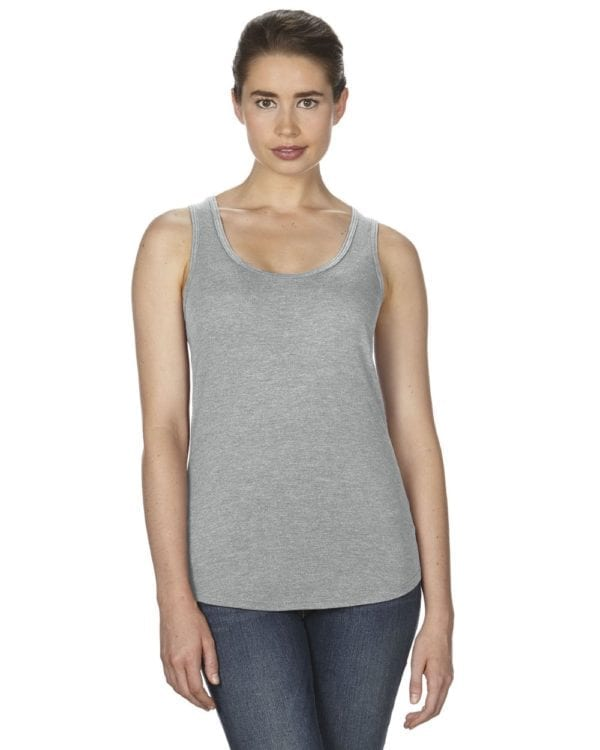 anvil 6751L triblend custom tank top bulk custom shirts heather grey