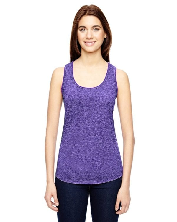 anvil 6751L triblend custom tank top bulk custom shirts heather purple
