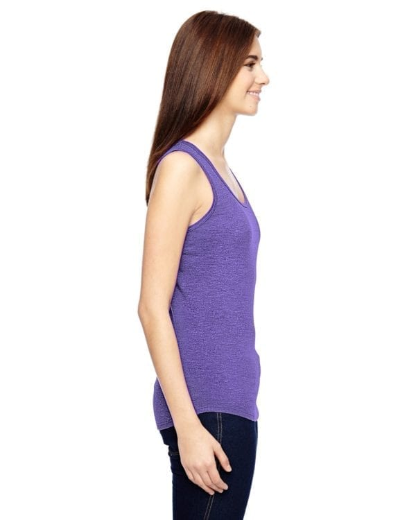 anvil 6751L triblend custom tank top purple (2)