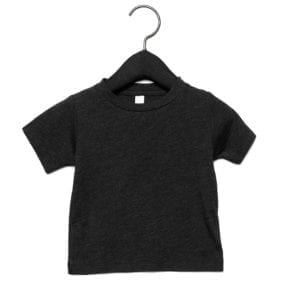 bella canvas 3413b infant triblend custom shirt charcoal black triblend