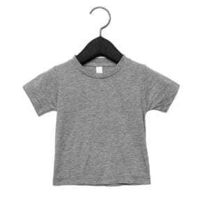 bella canvas 3413b infant triblend custom shirt grey triblend