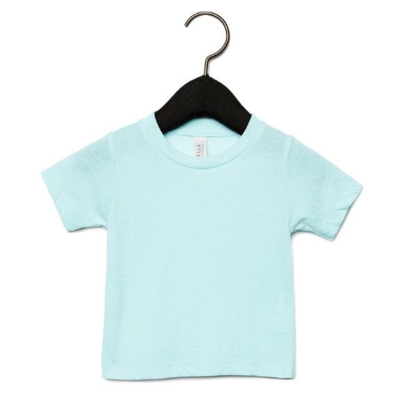 bella canvas 3413b infant triblend custom shirt ice blue triblend