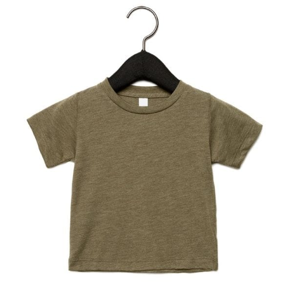 bella canvas 3413b infant triblend custom shirt olive triblend
