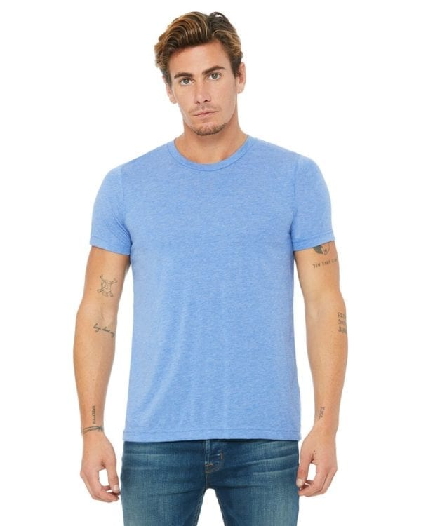bella canvas 3413c triblend custom shirts bulk custom shirts blue