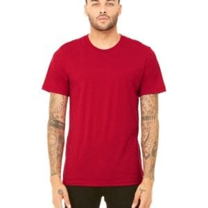 bella canvas 3413c triblend custom shirts bulk custom shirts solid red triblend