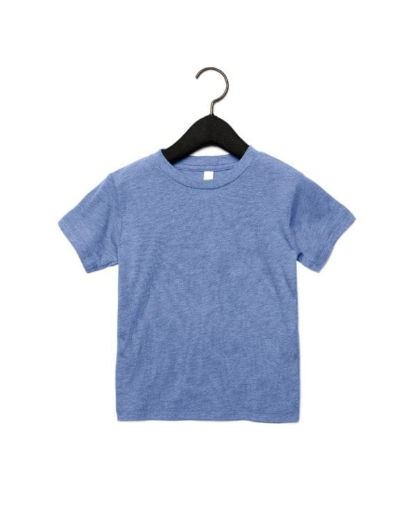 bella canvas 3413t custom toddler triblend shirt bulk custom shirts blue triblend