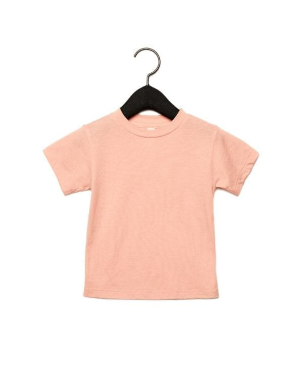 bella canvas 3413t custom toddler triblend shirt bulk custom shirts peach triblend