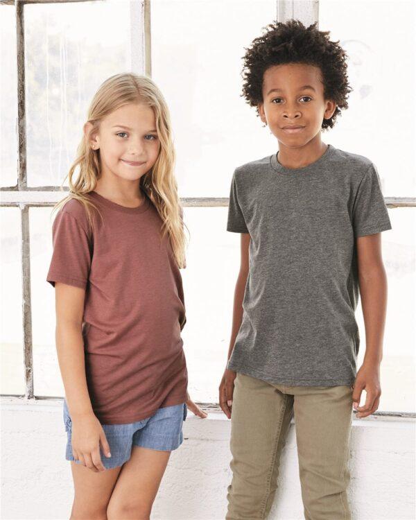 bella canvas 3413y personalize youth triblend shirt bulk custom shirts
