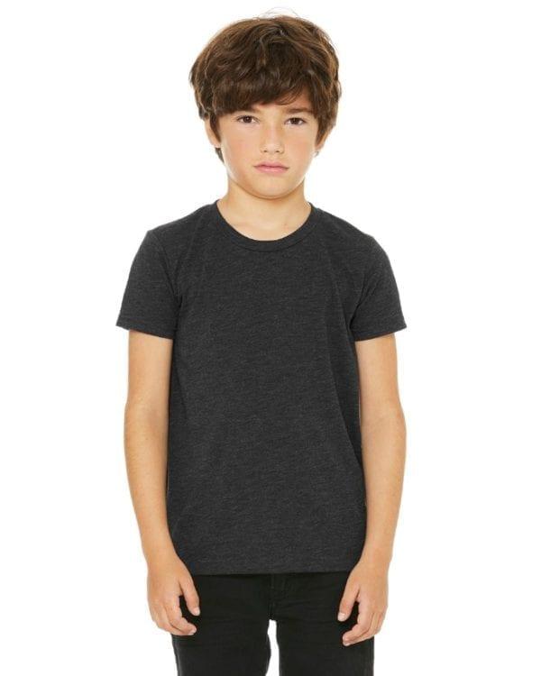 bella canvas 3413y personalize youth triblend shirt bulk custom shirts charcoal black