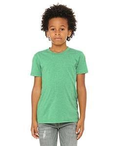 bella canvas 3413y personalize youth triblend shirt bulk custom shirts green triblend