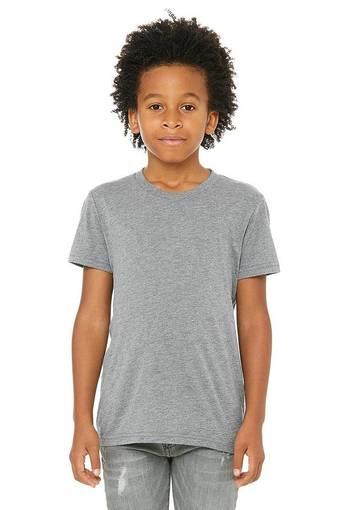 bella canvas 3413y personalize youth triblend shirt bulk custom shirts grey triblend