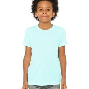 bella canvas 3413y personalize youth triblend shirt bulk custom shirts ice blue triblend