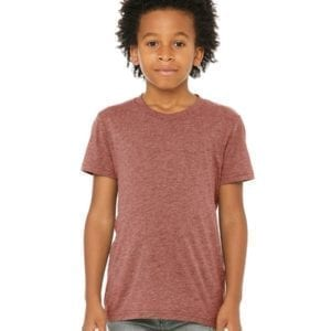 bella canvas 3413y personalize youth triblend shirt bulk custom shirts mauve triblend