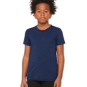 bella canvas 3413y personalize youth triblend shirt bulk custom shirts navy triblend