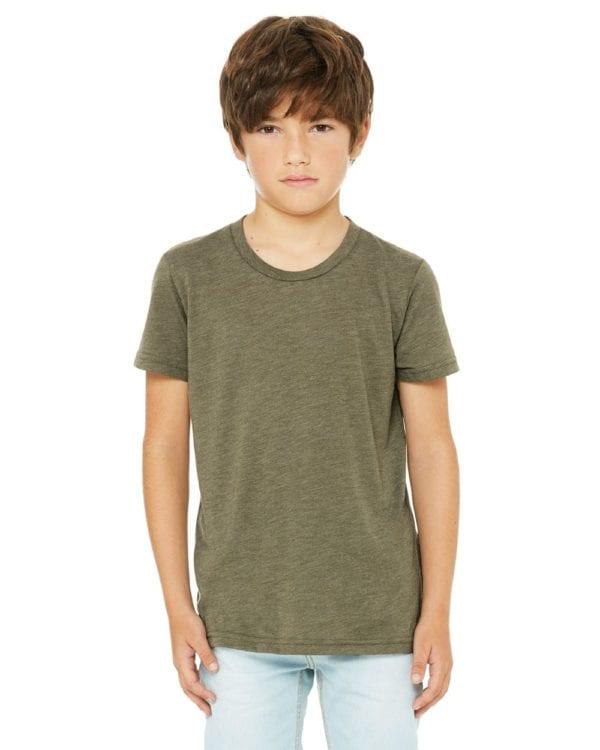 bella canvas 3413y personalize youth triblend shirt bulk custom shirts olive triblend