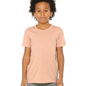 bella canvas 3413y personalize youth triblend shirt bulk custom shirts peach triblend