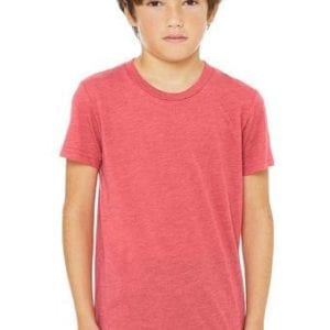 bella canvas 3413y personalize youth triblend shirt bulk custom shirts red triblend