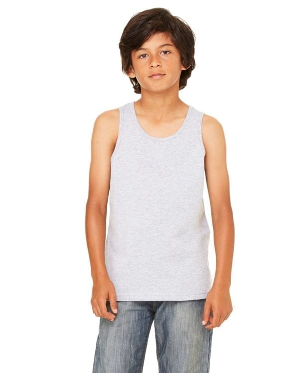 bella canvas 3480y personalize youth jersey tank top bulk custom shirts athletic heather