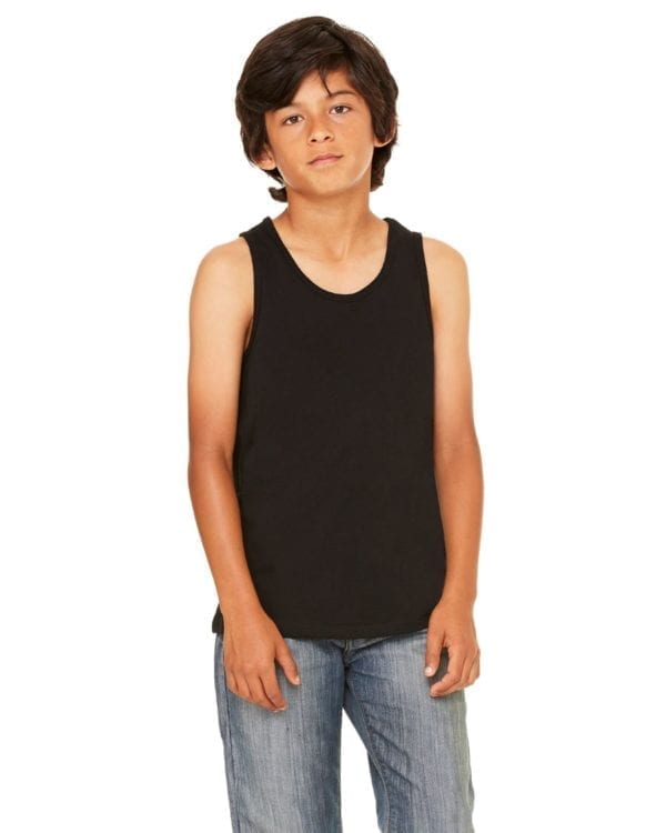 bella canvas 3480y personalize youth jersey tank top bulk custom shirts black