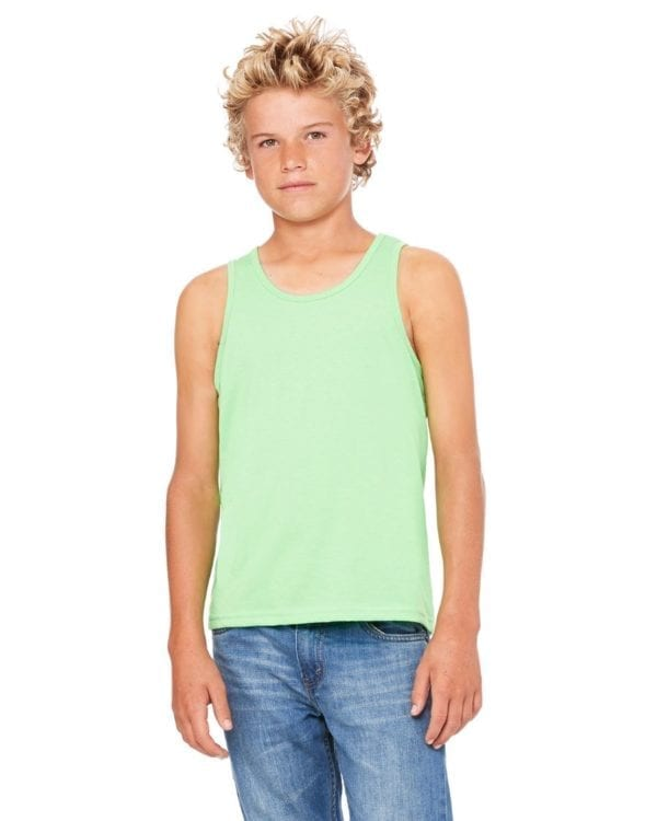 bella canvas 3480y personalize youth jersey tank top bulk custom shirts neon green