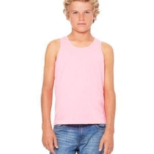 bella canvas 3480y personalize youth jersey tank top bulk custom shirts neon pink