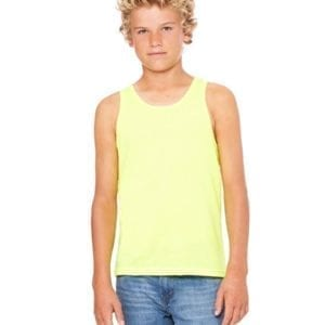 bella canvas 3480y personalize youth jersey tank top bulk custom shirts neon yellow