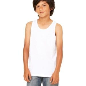 bella canvas 3480y personalize youth jersey tank top bulk custom shirts white