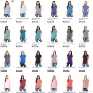 bella canvas 6004 custom ladies the favorite 4.2oz t-shirt bulk custom shirts colors pg1