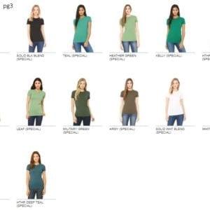 bulk custom shirts- bella canvas 6004 custom ladies the favorite 4.2oz t-shirt bulk custom shirts colors pg2