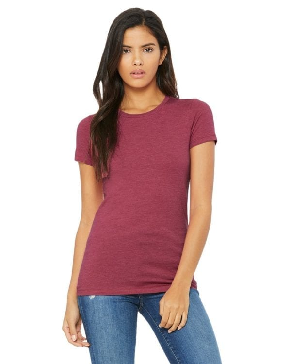 bella canvas 6004 custom ladies the favorite 4.2oz t-shirt bulk custom shirts heather red