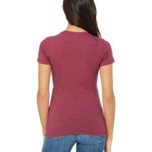 bella canvas 6004 custom ladies the favorite 4.2oz t-shirt bulk custom shirts heather red back