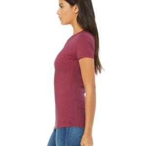 bella canvas 6004 custom ladies the favorite 4.2oz t-shirt bulk custom shirts heather red side