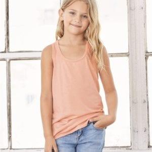 bella canvas b8800y personalize youth flowy racerback tank top bulk custom shirts
