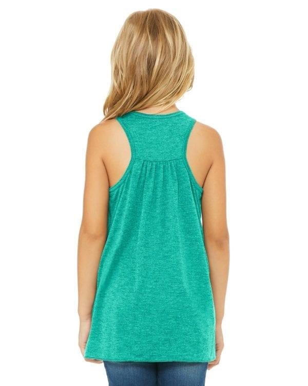 bella canvas b8800y personalize youth flowy racerback tank top bulk custom shirts back