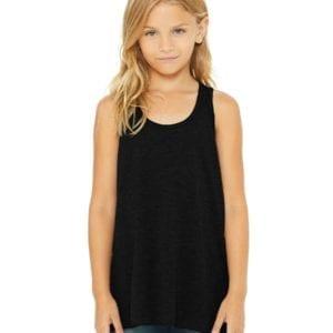 bella canvas b8800y personalize youth flowy racerback tank top bulk custom shirts black