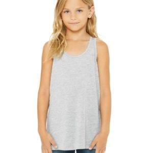 bella canvas b8800y personalize youth flowy racerback tank top bulk custom shirts heather