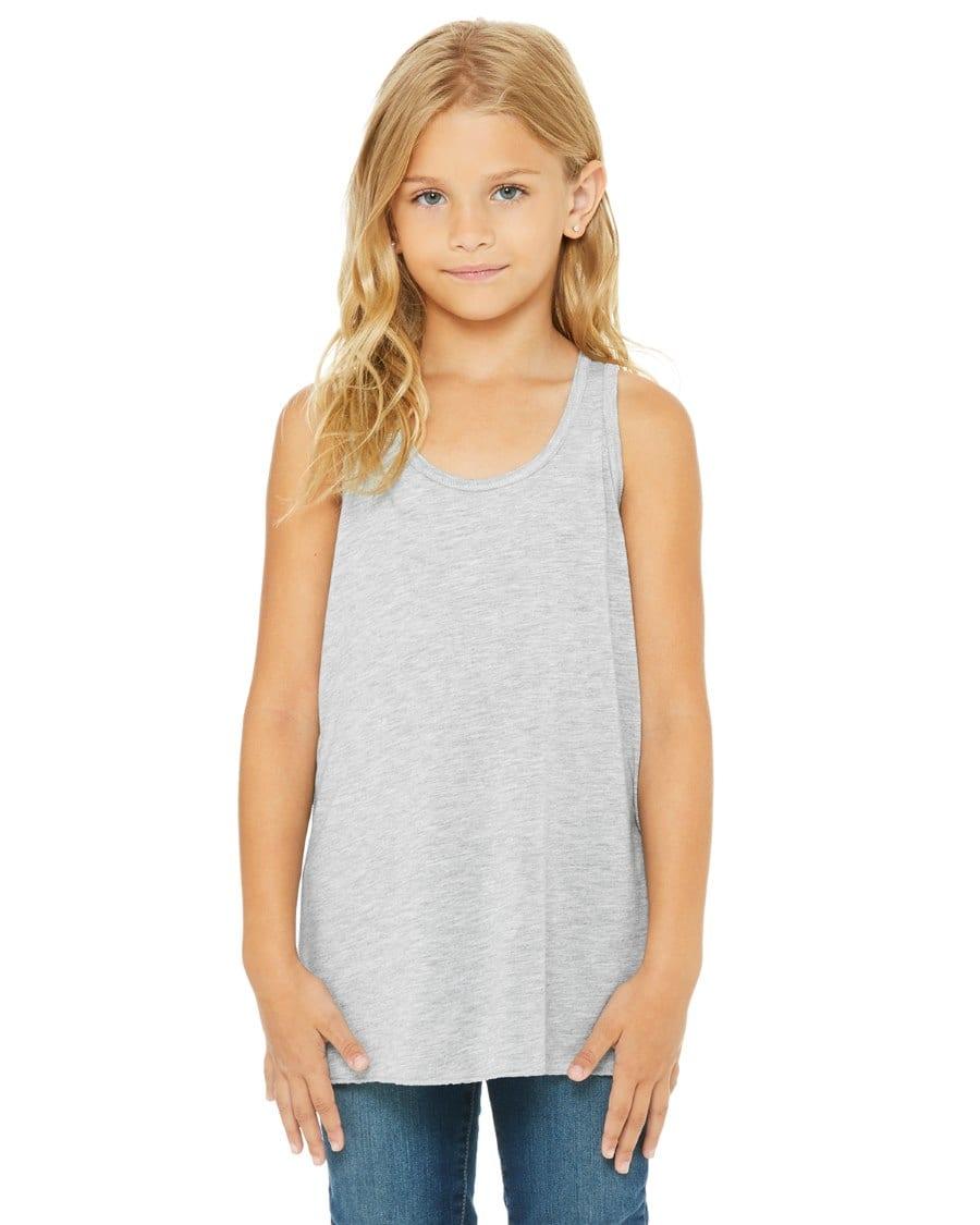 9748b11907 bella canvas b8800y personalize youth flowy racerback tank top bulk custom  shirts heather
