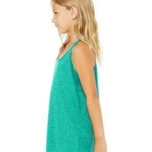 bella canvas b8800y personalize youth flowy racerback tank top bulk custom shirts side