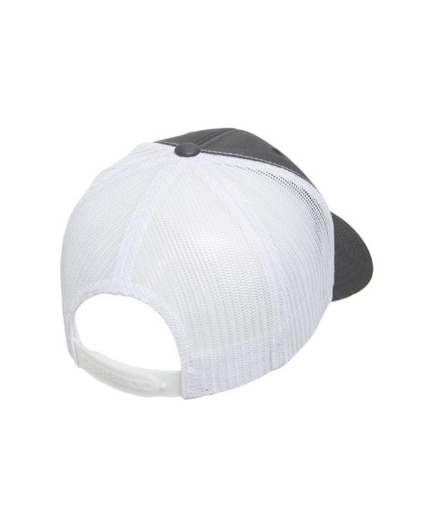 bulk custom hats yupoong 6606 custom retro trucker snapback cap charcoal white back