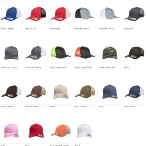 bulk custom hats yupoong 6606 custom retro trucker snapback cap colors