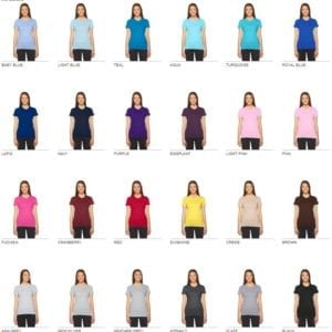 bulk custom shirts american apparel 2102w ladies custom jersey t shirt colors 1