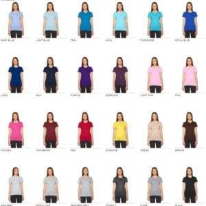 bulk custom shirts american apparel 2102w ladies custom jersey t shirt colors 1