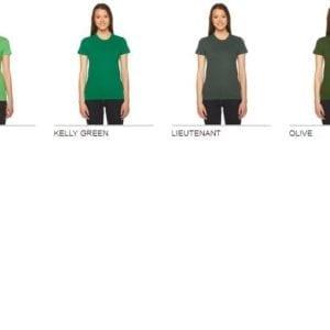 bulk custom shirts american apparel 2102w ladies custom jersey t shirt colors 2
